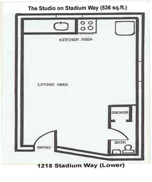 Floorplan of the Studio on 1215 Stadium Way in Pullman, Wa